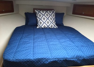 Yacht Bedding Royal Blue Fish Scale Pattern