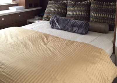 Yacht Bedding Brown Pillows with Beige Comforter