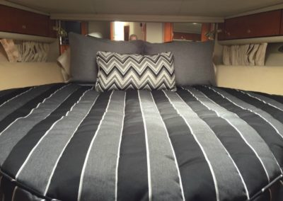 Yacht Bedding Dark and Light Thick Stripes Custom Size