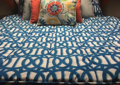 Yacht Bedding Blue and Wine Intertwining Circles