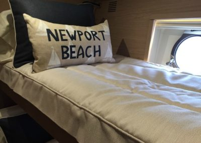 Yacht Bedding Grey with Newport Beach Pillow Twin Size