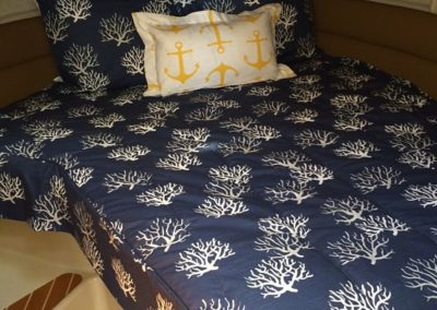 Yacht Bedding Navy Blue Tree and Anchor Pillow