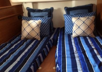 Yacht Bedding Navy Blue Stripes Twin Size