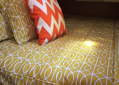 Yacht Bedding Intertwined Lines with Orange Pillow